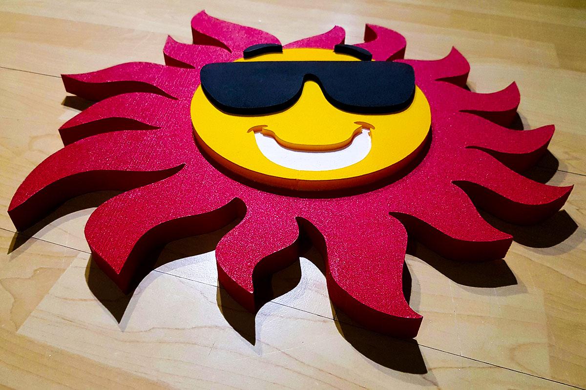 Sunce 3D stirodur